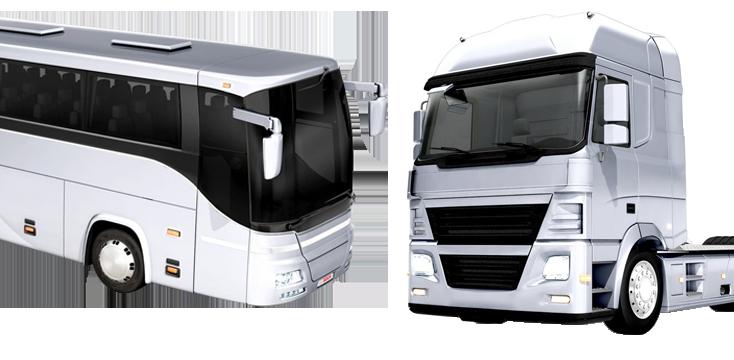 Bus et camion