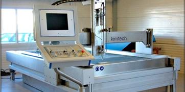 Découpage jet d'eau, Kimjet waterjet machine
