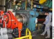 Sécurisation maximale d'un mélangeur ouvert dans l'industrie du caoutchouc.