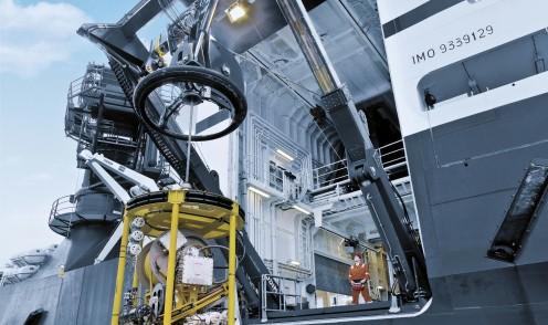 Système de compensation de la houle. Avec l'aimable autorisation de Odim/Rolls-Royce